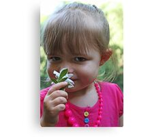 ♥ A Little Girl and One Flower ♥ Canvas Print