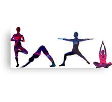 Yoga Splatter Metal Print