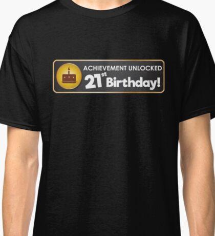 Achievement Unlocked 21st Birthday Classic T-Shirt