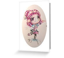 Sewn chibi Orianna Greeting Card