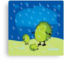 happy when it rains Canvas Print