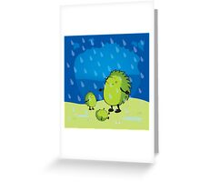 happy when it rains Greeting Card