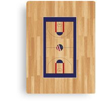BasketWoodCourt Canvas Print