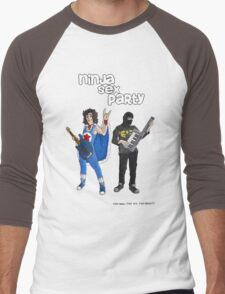 Ninja sex party Men's Baseball ¾ T-Shirt