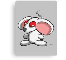 White mouse Canvas Print