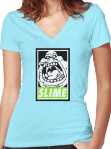 Obey Slimer Women's Fitted V-Neck T-Shirt