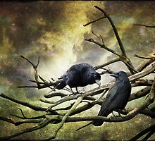Two Crows by Linda Lees
