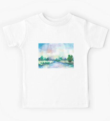 Watercolor Landscape Kids Tee