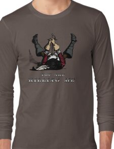 Cool Vintage Illustration - Funny Retro Musketeer Ready To Injure Himself  Long Sleeve T-Shirt