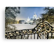 Winter in Hannover, Germany Canvas Print