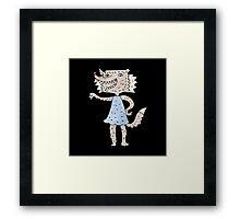 werewolf girl Framed Print