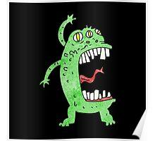 crazy alien monster Poster