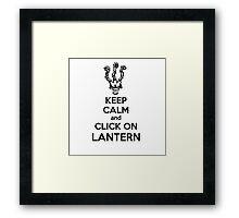 Thresh - League of Legends - Keep Calm and Click On Lantern - Black Framed Print