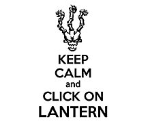 Thresh - League of Legends - Keep Calm and Click On Lantern - Black Photographic Print