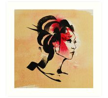 Japanese Geisha Girl Art Print