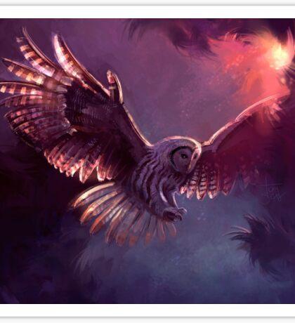 Strix owl Sticker