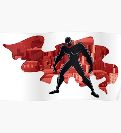 Superhero Abstract 2 Poster
