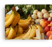 Fruits and vegetables of my sunday market Canvas Print