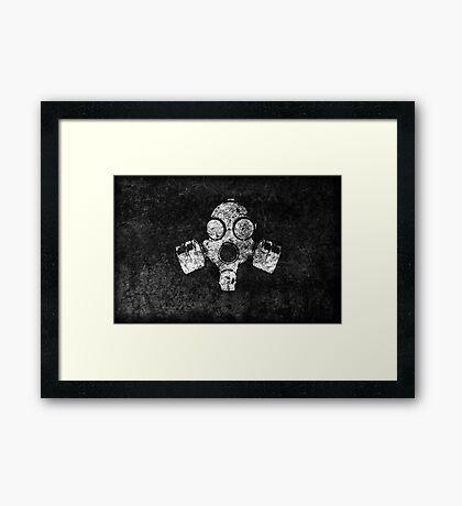 Cool Grunge Post Apocalyptic Gas Mask Gaming Laptop Design Framed Print