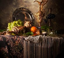 Still Life with Ornamental Ewers by Jon Wild