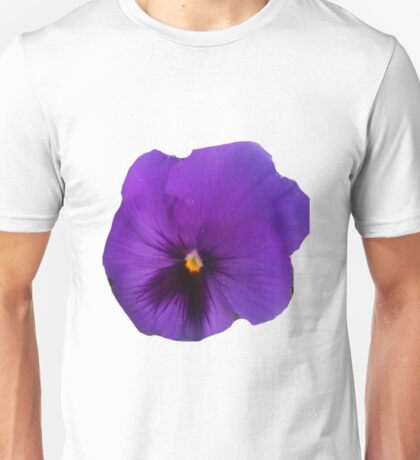 Dark Purple Pansy Unisex T-Shirt