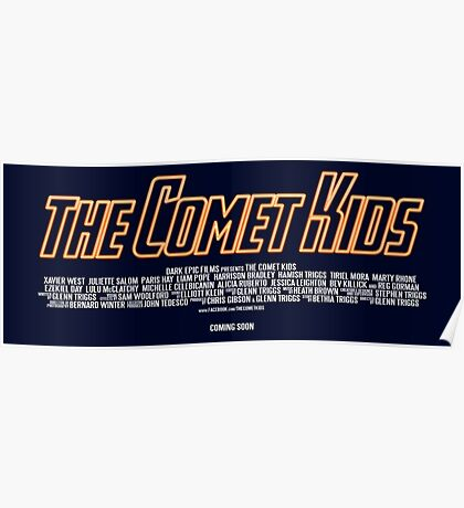 The Comet Kids - Logo Poster