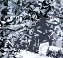 SNOW COVERED FOREST 2 Sticker