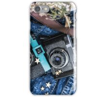 Old vintage cameras. Analogue photography. For photography lovers iPhone Case/Skin