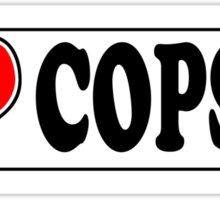 I LOVE COPS Sticker