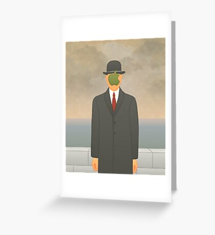 """Apple"" – Magritte inspired design Greeting Card"