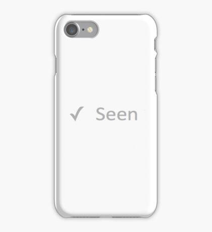 'Seen' Design iPhone Case/Skin