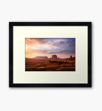 John Ford's Point, Monument Valley, Sunset Framed Print