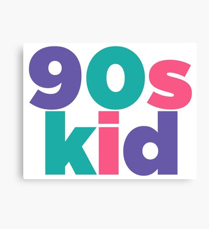 90s Kid Canvas Print