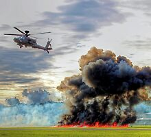 Apache Role Demo HDR - Dunsfold Wings and Wheels 2014  by Colin  Williams Photography