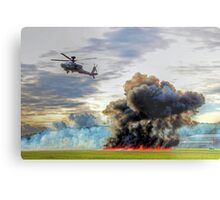 Apache Role Demo HDR - Dunsfold Wings and Wheels 2014  Metal Print