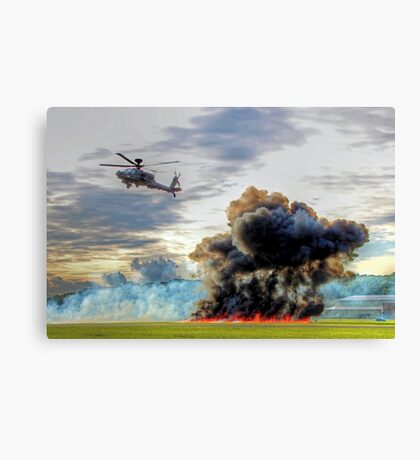 Apache Role Demo HDR - Dunsfold Wings and Wheels 2014  Canvas Print