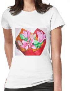 Valentines Bouquet Womens Fitted T-Shirt