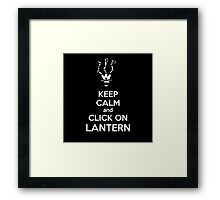 Thresh - League of Legends - Keep Calm and Click On Lantern - White Framed Print
