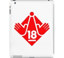 R18 / XXX / Adults Only logo - Red iPad Case/Skin