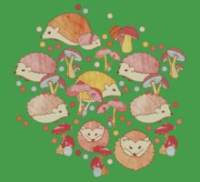 Woodland Hedgehogs - a pattern in soft neutrals  Kids Clothes