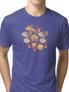 Woodland Hedgehogs - a pattern in soft neutrals  Tri-blend T-Shirt