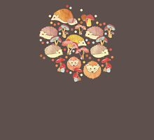 Woodland Hedgehogs - a pattern in soft neutrals  Womens Fitted T-Shirt