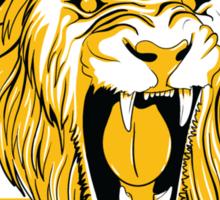 RenzoGraciePgh_LionFace_Triangle Sticker
