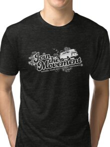 Join the movement - white Tri-blend T-Shirt