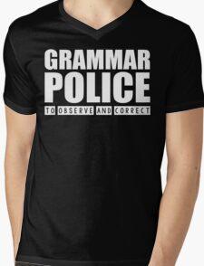Grammar Police - To Observe And Correct T Shirt Mens V-Neck T-Shirt