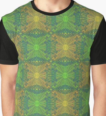 """Oak King"", bohemian pattern in yellow and green tones Graphic T-Shirt"