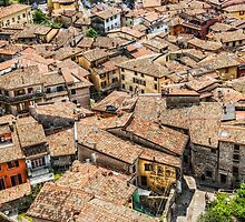 Tiled roofs of Malcesine by Dobromir Dobrinov