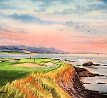 Pebble Beach Golf Course  by bill holkham