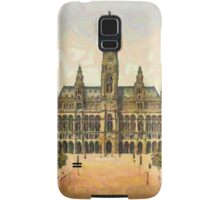 A digital painting of the City Hall in Vienna, Austria in the 19th century Samsung Galaxy Case/Skin