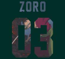 Zoro Jersey #03 by Aaronoftheyear